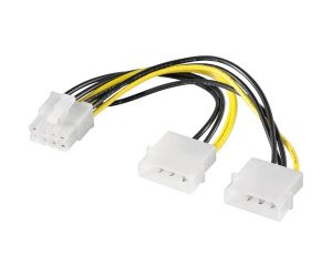 2 molex to pcie 8 pin adapter